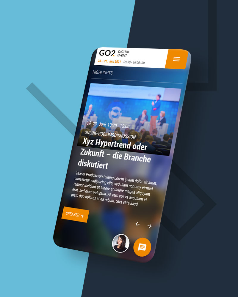 FDI Virtuelle Messe - UX/UI Design