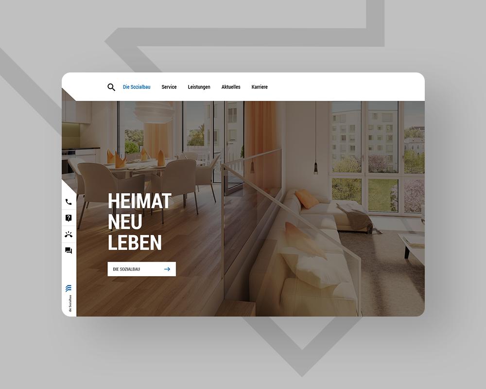 Sozialbau Kempten - Webdesign Image-Website